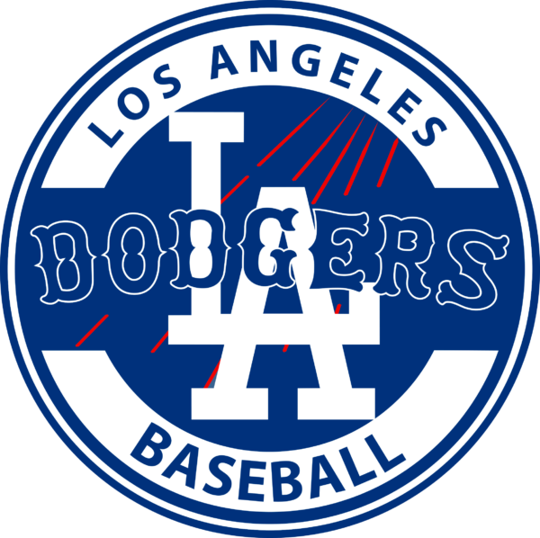 los angeles dodgers 06 Vectorency Los Angeles Dodgers SVG Files For Silhouette, Files For Cricut, DXF, EPS, PNG Instant Download.