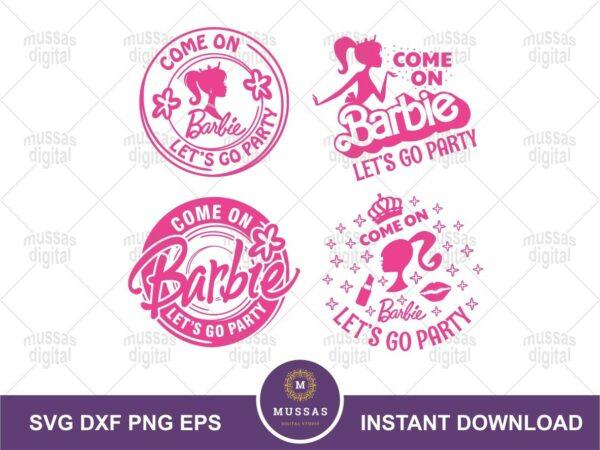party barbie svg cut file shirt design