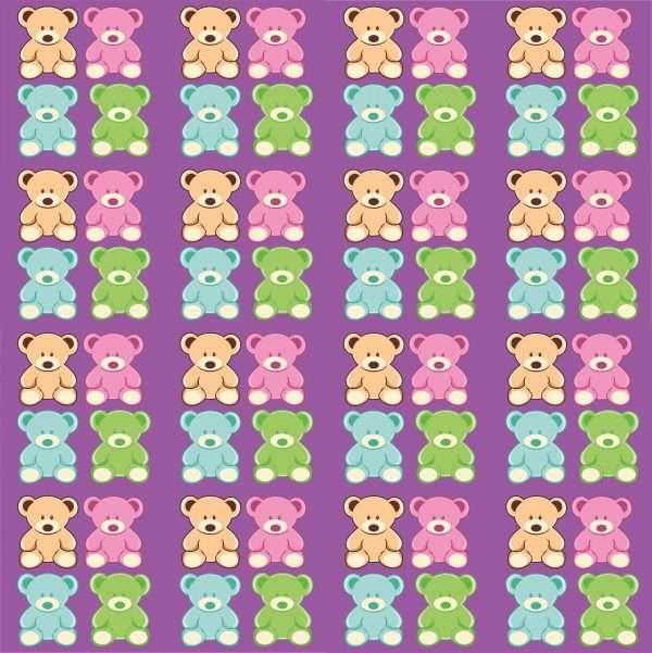 set of 4 bears in diferent colors2 95 2494x2500 1 Vectorency Cute Teddy Bear Pattern