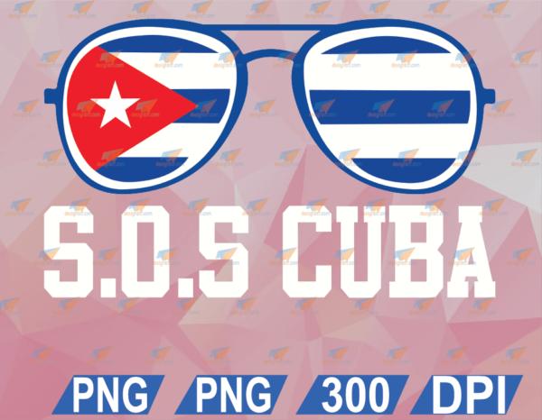 wtm web 02 29 Vectorency Sos Cuba Flag Sunglasses, SVG, PNG, Digital