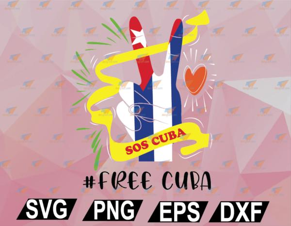 wtm web 02 46 Vectorency Sos Cuba Flag Cuba Protest Vintage Free Cuba SVG, EPS, DXF, PNG, Digital