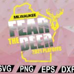 wtm web 02 47 Vectorency Fear Deer Milwaukee Buck Finals Champs SVG, EPS, DXF, PNG, Digital