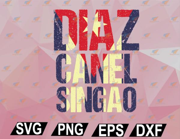 wtm web 02 51 Vectorency Diaz Canel Singao SVG, EPS, DXF, PNG, Digital