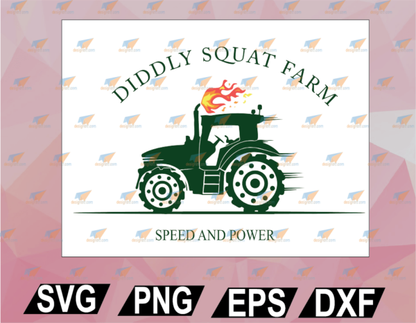wtm web 02 69 Vectorency Perfect Tractor Design Diddly Squat Farm Speed And Power SVG, EPS, DXF, PNG, Digital