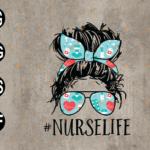 wtm web 03 74 Vectorency Nurse Life SVG, Proud Nurse Life SVG, Nurse Life Skull Digital, Nursing SVG, Messy Bun Hair SVG