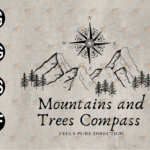 wtm web 03 77 Vectorency Mountains And Trees Compass SVG, Outdoor Digital Download, Adventure SVG, Mountain SVG, EPS, PNG, DXF, Digital Download