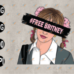 wtm web 03 84 Vectorency Free Britney Movement, Free Britney, Britney Spears, Free Britney Documentary, SVG, EPS, PNG, DXF, Digital Download