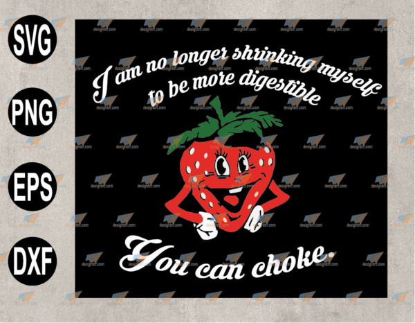 wtm web 03 87 Vectorency I Am No Longer Shrinking Myself Strawberry Boxing SVG, EPS, PNG, DXF, Digital Download