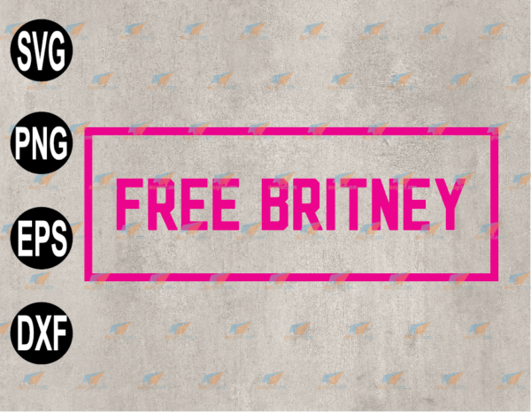 wtm web 03 94 Vectorency Britney Spears Free Britney, Free Britney Movement, Britney TV Series Britney Spears SVG EPS PNG DXF
