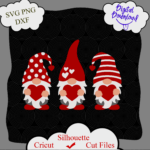 1393 Vectorency Valentines Day svg, Three Gnomes svg, Gnomes svg, Gnome svg, Valentine svg, Hearts svg, dxf, png, Valentine Shirt Design, Cricut, Silhouette