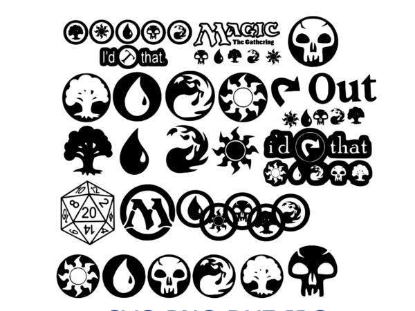 537 v Vectorency Bundle 25 Images Magic the Gathering - MTG Mana Symbols