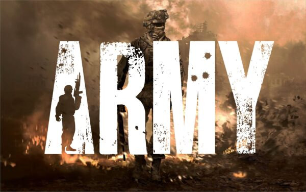 ARMY 9 scaled Vectorency Army font and Joker font in one font / open type font + letters and numbers svg / Distressed Font