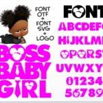 African American Boss Girl 1 Vectorency African American Boss Baby Girl font / Boss Baby Girl font SVG + Boss Baby Girl font installable font OTF + Boss Baby Girl Logo svg png / Boss Baby Font