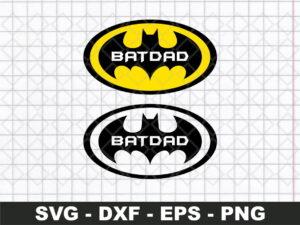 Batdad Logo SVG - Batman Super Hero