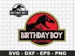 Birthday Boy Jurassic Park SVG