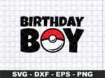 Birthday Boy Pokemon Ball SVG