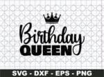 Birthday Queen SVG, Birthday Svg, Birthday Squad Svg