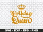 Birthday Queen Svg, Fabulous Birthday Svg, Birthday Svg