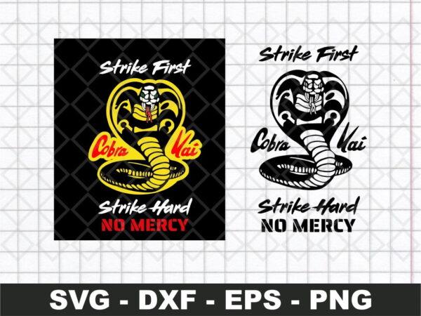 Cobra Kai White Face Strike First Hard No Mercy