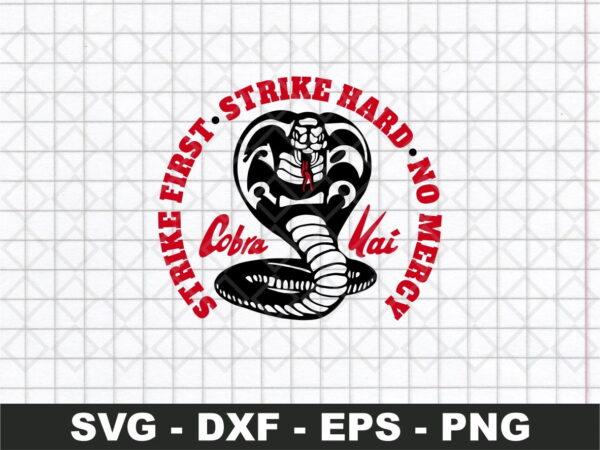 Cobra kai dojo logo no mercy svg