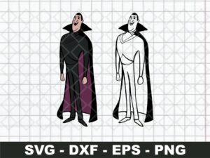 Count Dracula Hotel Transylvania SVG