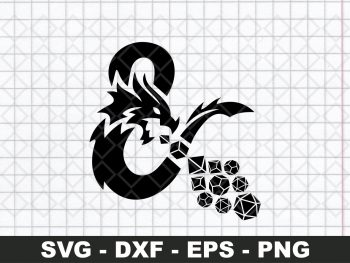 DND Dungeons And Dragons Logo SVG PNG Vector