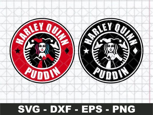 Harley Quinn Starbucks Logo SVG