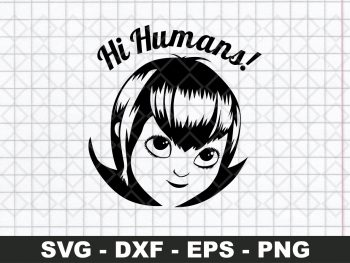 Hi Humans Mavis Head SVG - Hotel Transylvania