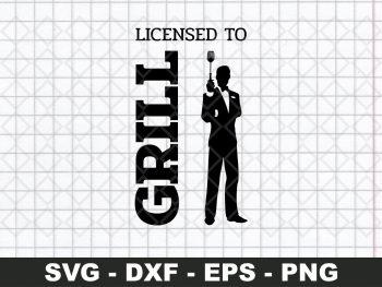 Licensed to Grill James Bond svg