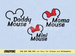 Mini Mouse svg Mama mouse Daddy Disney Quotes family shirt