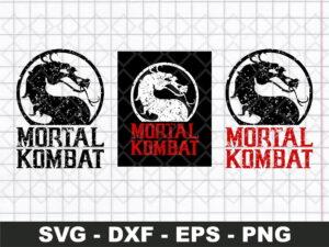 Mortal Kombat Grunge Logo SVG