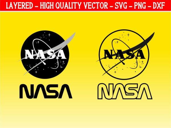 Nasa Logo Outline SVG Cricut Cut File Instant Download