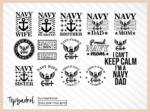 Navy SVG Navy Family T Shirt Design