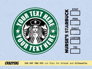 Nurse's Starbucks Logo Customised
