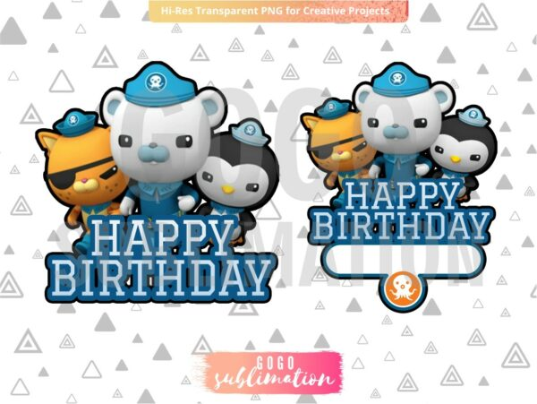 Octonauts Cake Topper Printable PNG