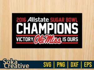 Ole Miss Champions 2016 SVG PNG