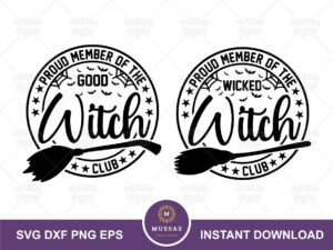 Proud Member Witch Club SVG