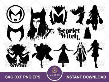 Scarlet Witch SVG