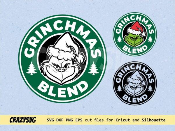 Starbucks Coffee Grinchmas Blend Logo SVG
