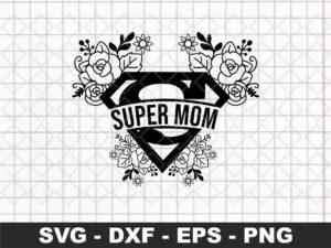 Super Mom Floral