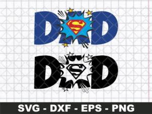 Superman Dad Word Boom SVG