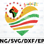WTMETSY16122020 01 10 Vectorency Juneteenth Heart PNG, Juneteenth PNG for Sublimation, Since 1865 Juneteenth PNG for Sublimation