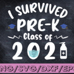 WTMETSY16122020 04 33 Vectorency Pre K Graduation svg, 2021 Graduate svg, Class of 2021 svg, I Survived Pre K grade svg, quarantined graduate svg, virtual graduation svg