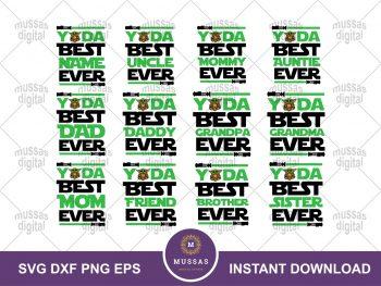 Yoda Birthday Design SVG PNG Family Birthday Shirt Star Wars