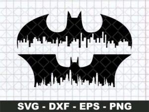 batman logo gotham cityscape