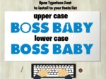 boss baby font 5