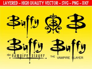 buffy svg the vampire slayer logo vector
