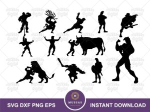 disney silhouette hercules svg bundle