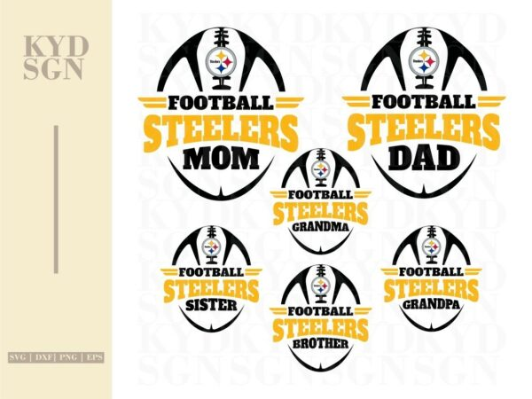 football family steelers SVG Mom Dad shirt desing PNG Vector