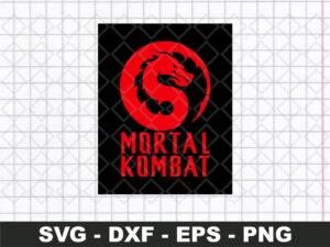 mortal kombat movie logo svg